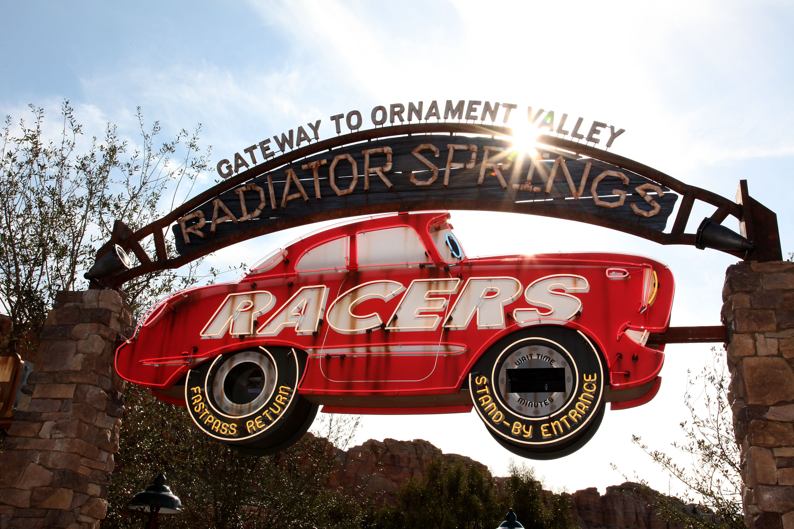 Come Play with Lightning McQueen and Mater in Cars Land, Offering Fuel-Driven Fun at Disneyland Resort