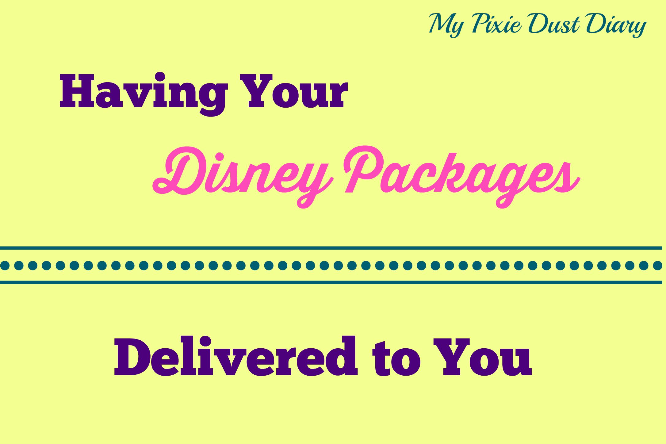 Delivering Packages To Disney World