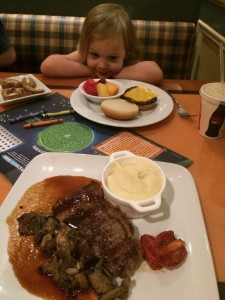 Even meal times aren't safe from meltdowns!