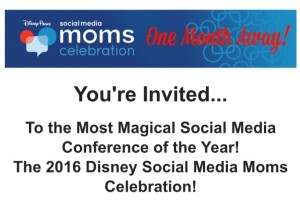 One Month Away! We're Headed Back to Disney's Social Media Moms Celebration!
