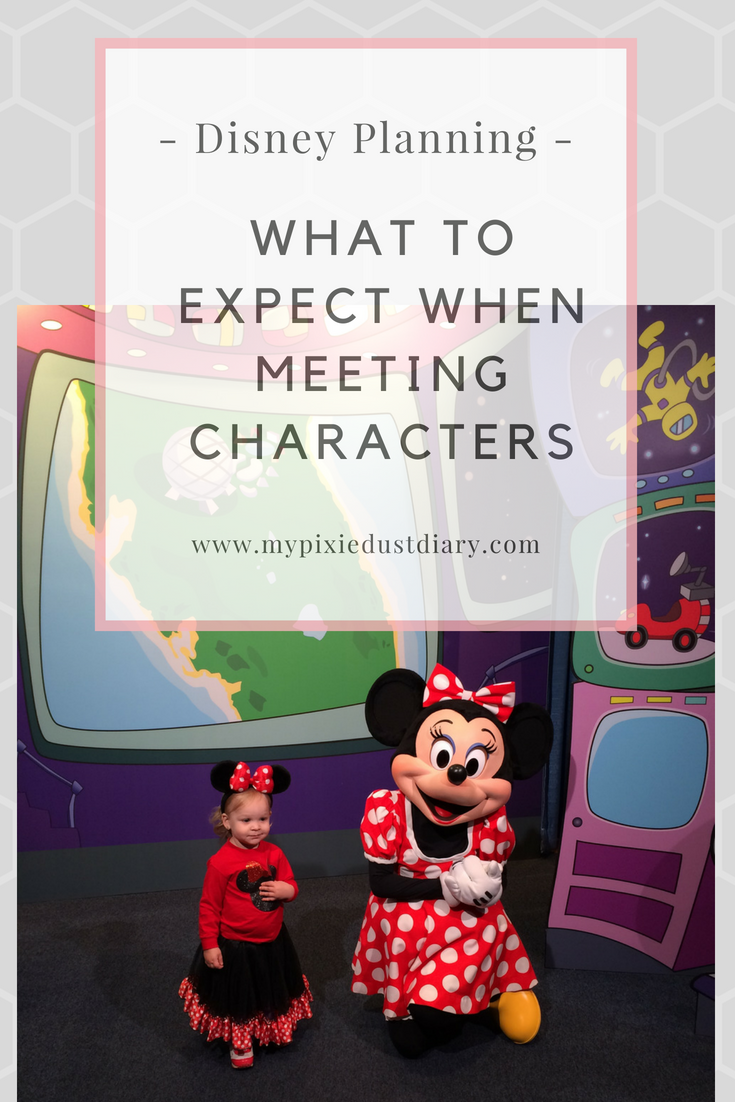 What to Expect When Meeting a Disney Character | MyPixieDustDiary.com | Not sure what to expect when you meet Mickey? Here's what to expect.